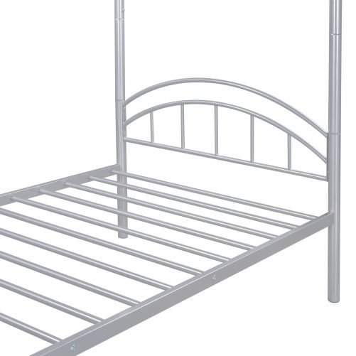 Twin Over Twin Metal Bunk Bed,Divided Into Two Beds