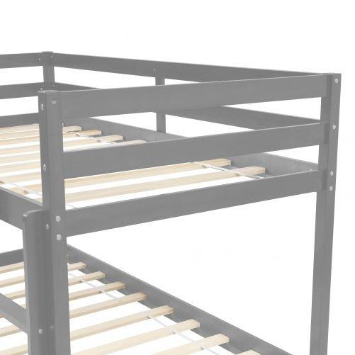 Twin over Twin Floor Bunk Bed