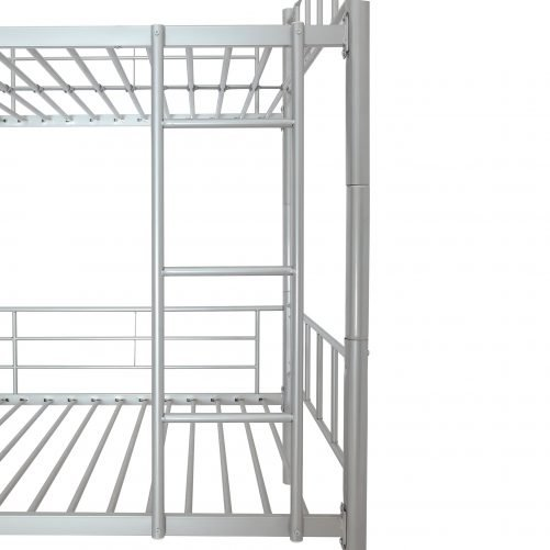 Metal Twin Over Twin Bunk Bed, Divided Into Two Beds