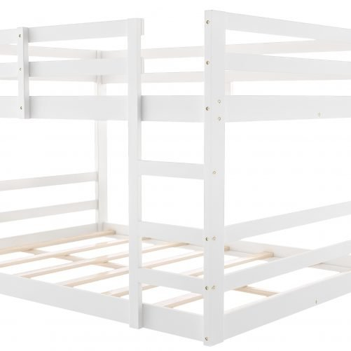 Low Twin Over Twin Bunk Bed With Ladder