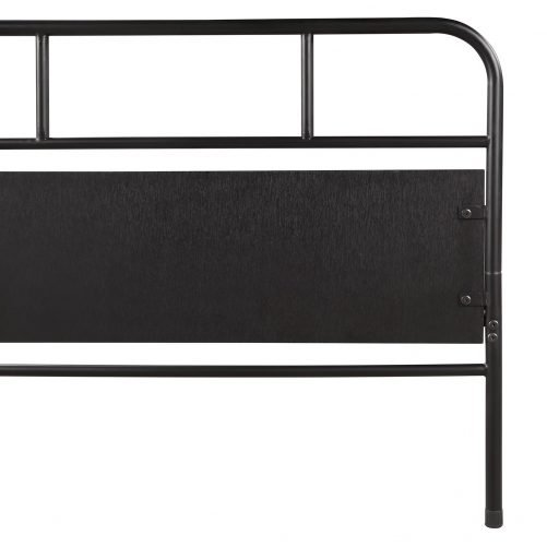 Metal Daybed Platform Bed Frame with Trundle Built-in Casters, Twin Size 6
