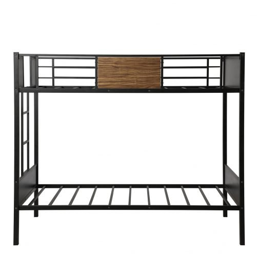 Twin over Twin Bunk Bed with Rail, built-in ladder 8