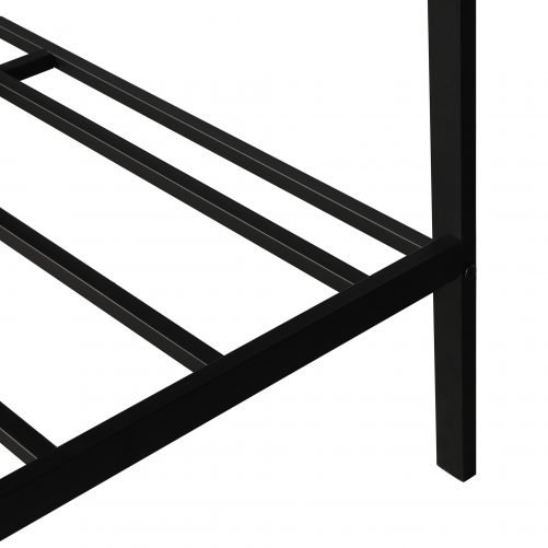 Metal bed with wood decoration(Queen size) 2