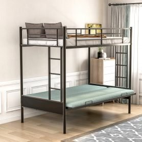 Twin over Full Metal Bunk Bed, Multi-Function 20