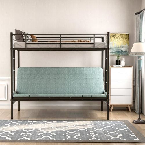 Twin over Full Metal Bunk Bed, Multi-Function 10