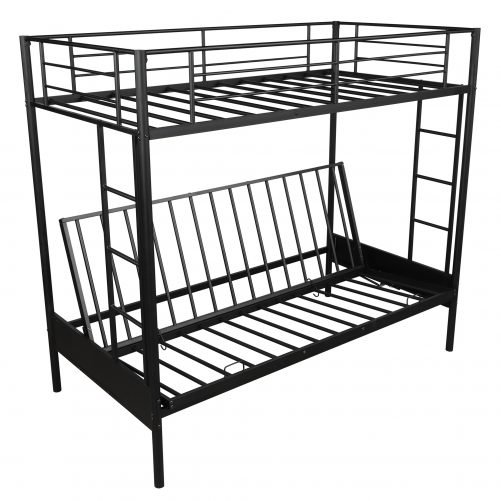 Twin over Full Metal Bunk Bed, Multi-Function 16