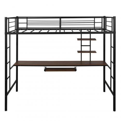 Loft bed with Dsek and Shelf , Space Saving Design 3