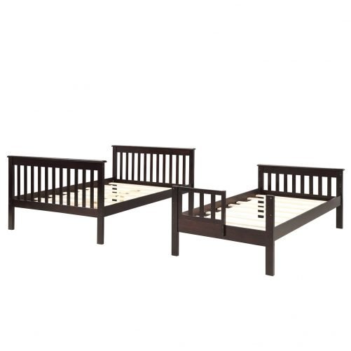 Stairway Twin-Over-Full Bunk Bed with Storage and Guard Rail 3