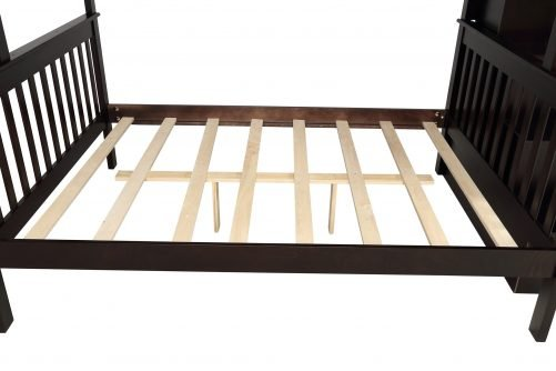 Stairway Twin-Over-Full Bunk Bed with Storage and Guard Rail 13