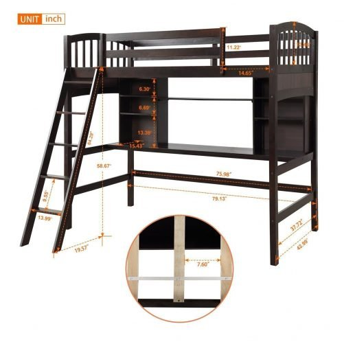 Loft Bed with Desk 6