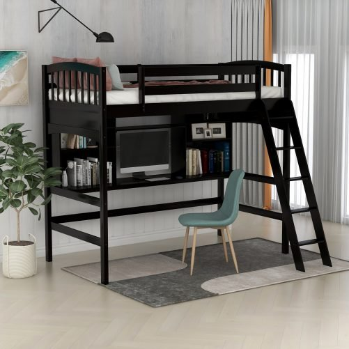 Loft Bed with Desk 1