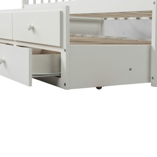 Bed with Trundle and 3 Storage Drawers 8