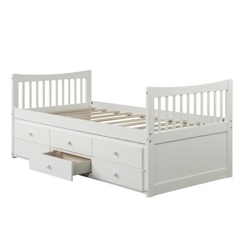 Bed with Trundle and 3 Storage Drawers 36