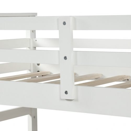Twin-Over-Twin Trundle Bunk Bed with 4 Storage Drwers 34
