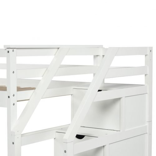 Twin-Over-Twin Trundle Bunk Bed with 4 Storage Drwers 36