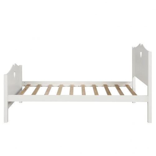 Bed Frame Twin Platform Bed with Wood Slat Support and Headboard and Footboard 24