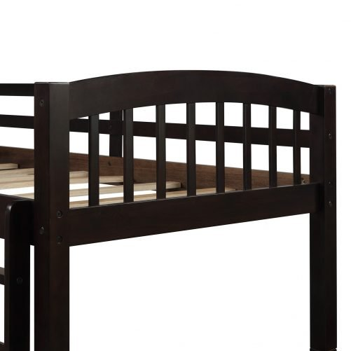 Twin Bunk Bed with Ladder, Safety Rail, Twin Trundle Bed with 3 Drawers for Kids 5