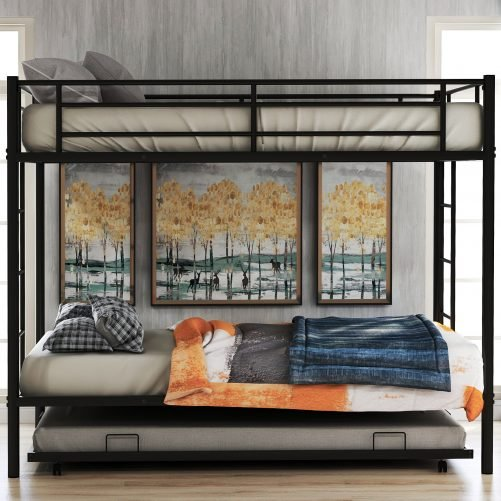 Twin over twin bunk beds with trundle 3