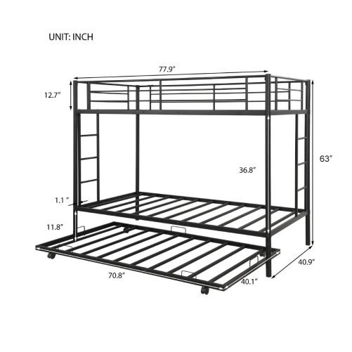 Twin over twin bunk beds with trundle 8