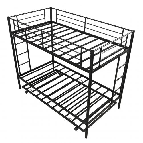 Twin over twin bunk beds with trundle 5