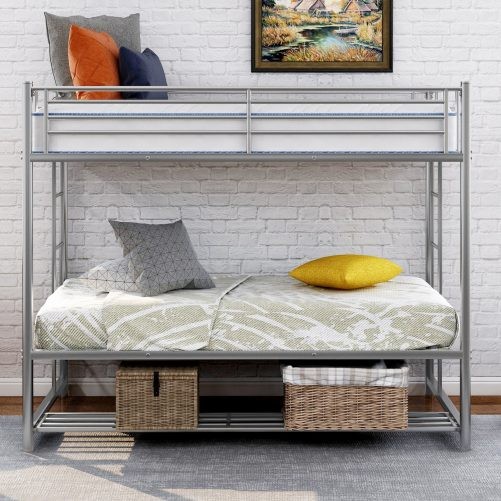 Twin over twin bunk bed with storage 11
