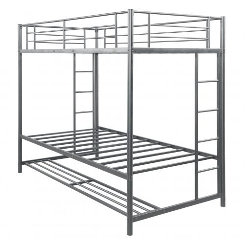 Twin over twin bunk bed with storage 9