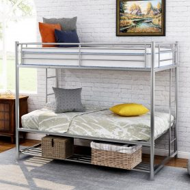 Twin over twin bunk bed with storage 16