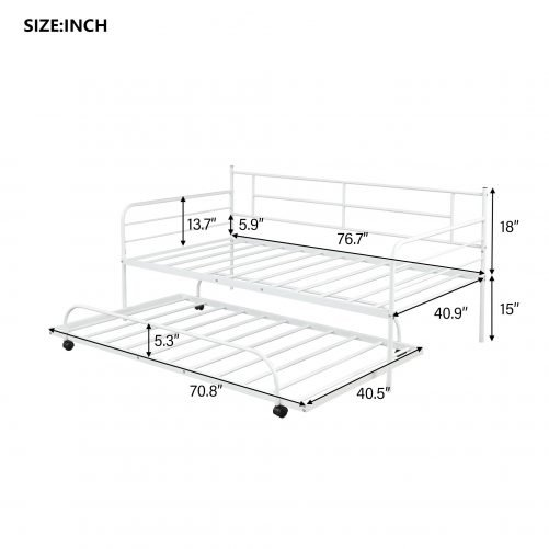 Metal Daybed with Trundle 5