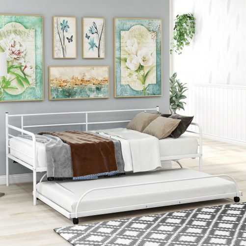 Metal Daybed with Trundle 6