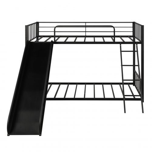 Metal bunk bed with slide, twin over twin 8
