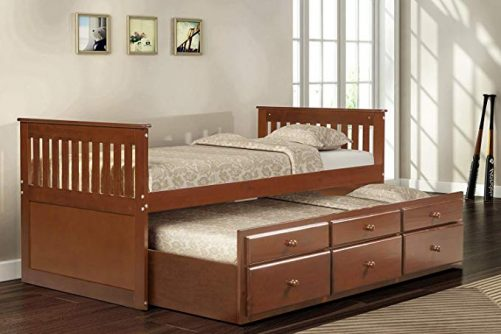 Captain's Bed Twin Daybed with Trundle Bed and Storage Drawers 18