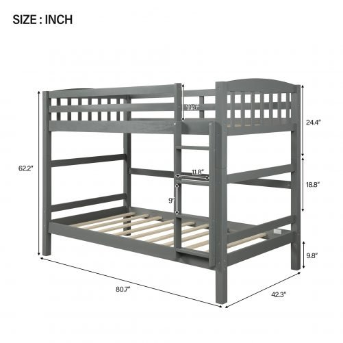 Twin over Twin Loft Bed, can be separated 7