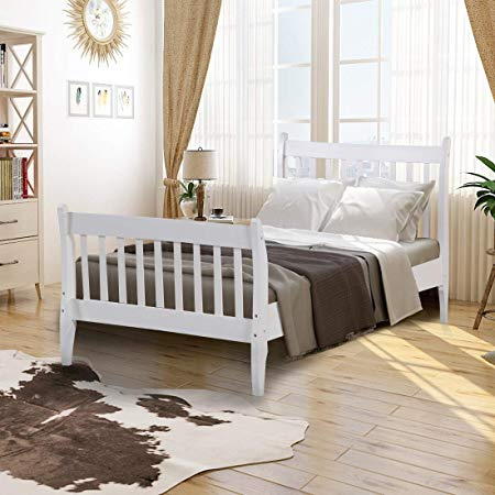 Wood Platform Bed Frame Mattress Foundation with Wood Slat Support 10