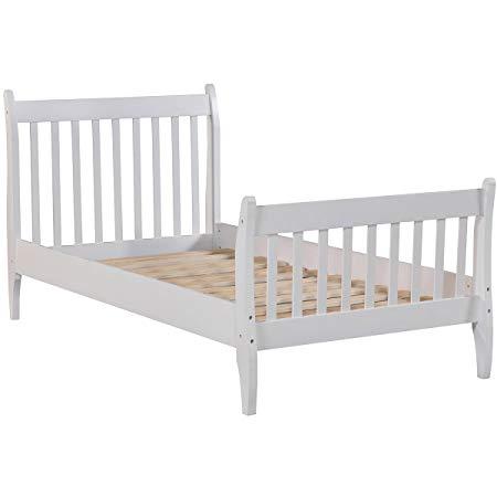 Wood Platform Bed Frame Mattress Foundation with Wood Slat Support 3