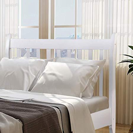 Wood Platform Bed Frame Mattress Foundation with Wood Slat Support 12