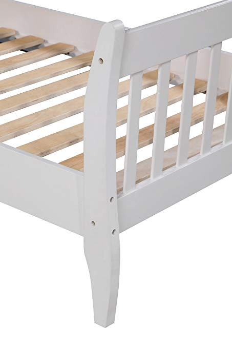 Wood Platform Bed Frame Mattress Foundation with Wood Slat Support 7