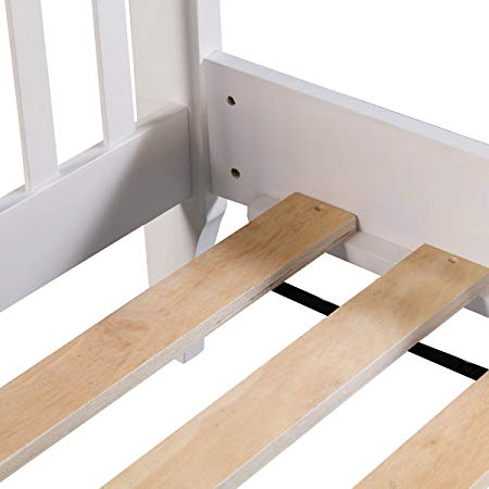 Wood Platform Bed Frame Mattress Foundation with Wood Slat Support 2
