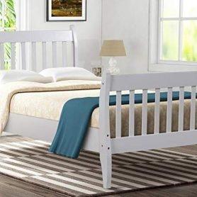 Wood Platform Bed Frame Mattress Foundation with Wood Slat Support 11
