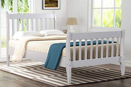 Wood Platform Bed Frame Mattress Foundation with Wood Slat Support 1