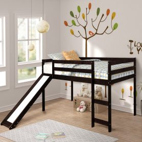 Kids Loft Bed with Slide, Multifunctional Design 4
