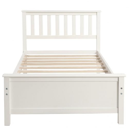 Wood Platform Bed with Headboard,Footboard and Wood Slat Support 12