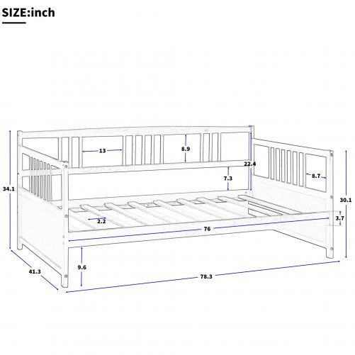 Solid Wood Daybed, Multifunctional 14