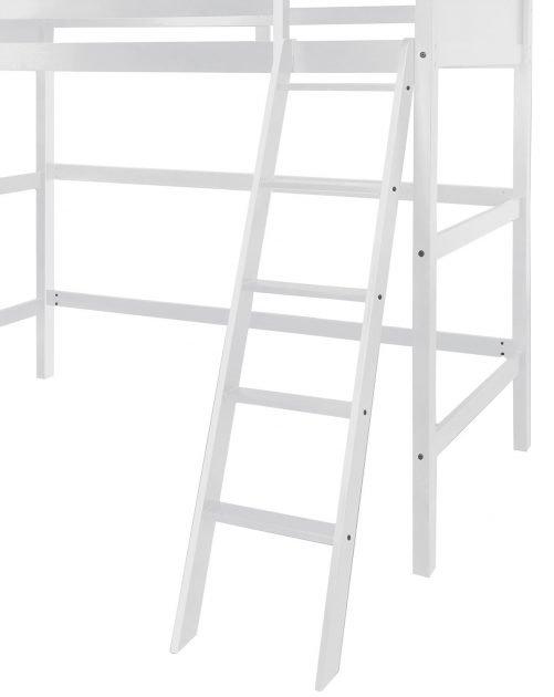 Solid Wood Loft Bed Panel Style Loft Bed,Side Angled Ladder 2