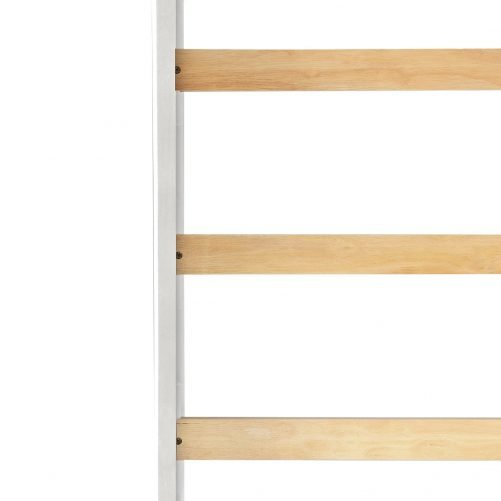 Solid Wood Loft Bed Panel Style Loft Bed,Side Angled Ladder 14
