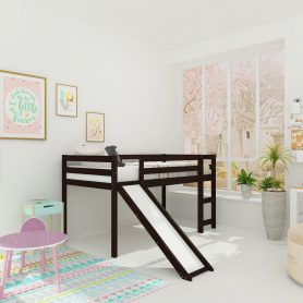 Kids Loft Bed with Slide, Multifunctional Design 1