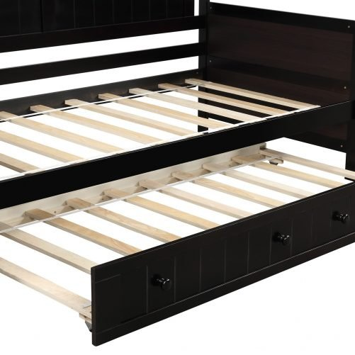 Twin Wooden Daybed with Trundle Bed 14